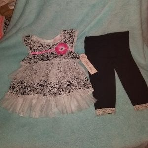 Nwt lace and floral outfit